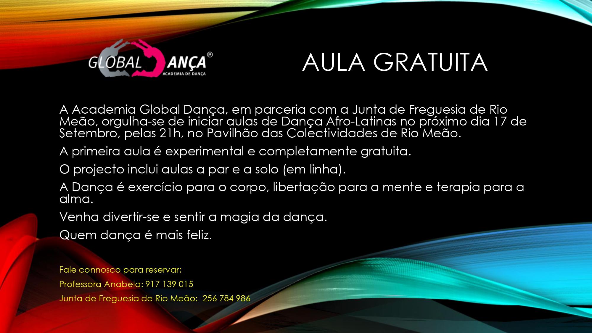 Global Dança - Início de Aulas em Rio Meão